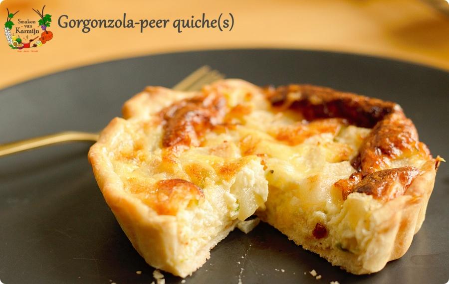 Quiche met gorgonzola en peer